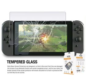 Orzly: Tempered Glass Screen Protector Twin Pack (Nintendo Switch)