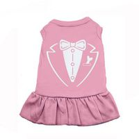 Long Tux Dog T-Shirt - Pink (Size: M)
