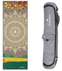TheGoodSport Traditional Multi-Coloured Yoga Mat & Minimalist Bag
