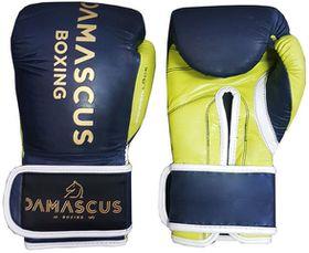 Damascus Boxing Sparring Velcro Gloves 20oz - Navy & Green