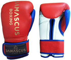Damascus Boxing Sparring Velcro Gloves 20oz - Red, White & Blue