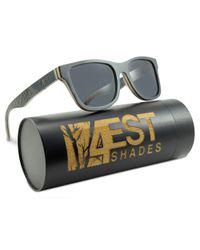 5e08088a97 4EST SHADES Wooden Polarized Sunglasses - Black Maple