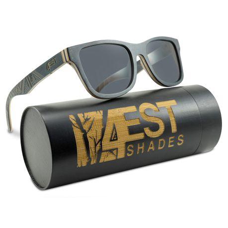 13f8bc9b79 4EST SHADES Wooden Polarized Sunglasses - Black Maple