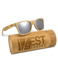 f823f8ddc3 4EST SHADES Wooden Polarized Sunglasses - Bamboo