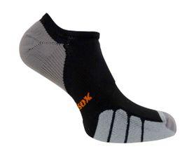Vitalsox Men's VT1110 Court No-Show Compression Socks - Black (Size: 4-5.5)
