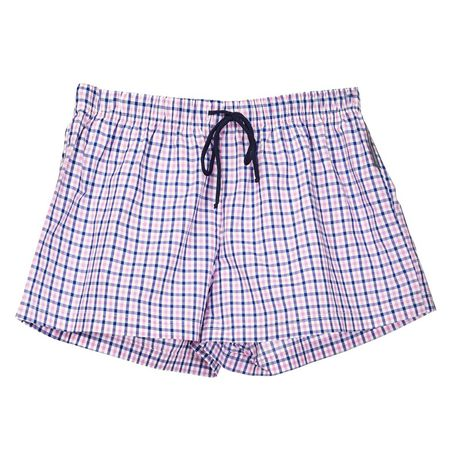 378d37f45a0 Rose Creations Women s Sleeping Shorts - Pink   Navy Check
