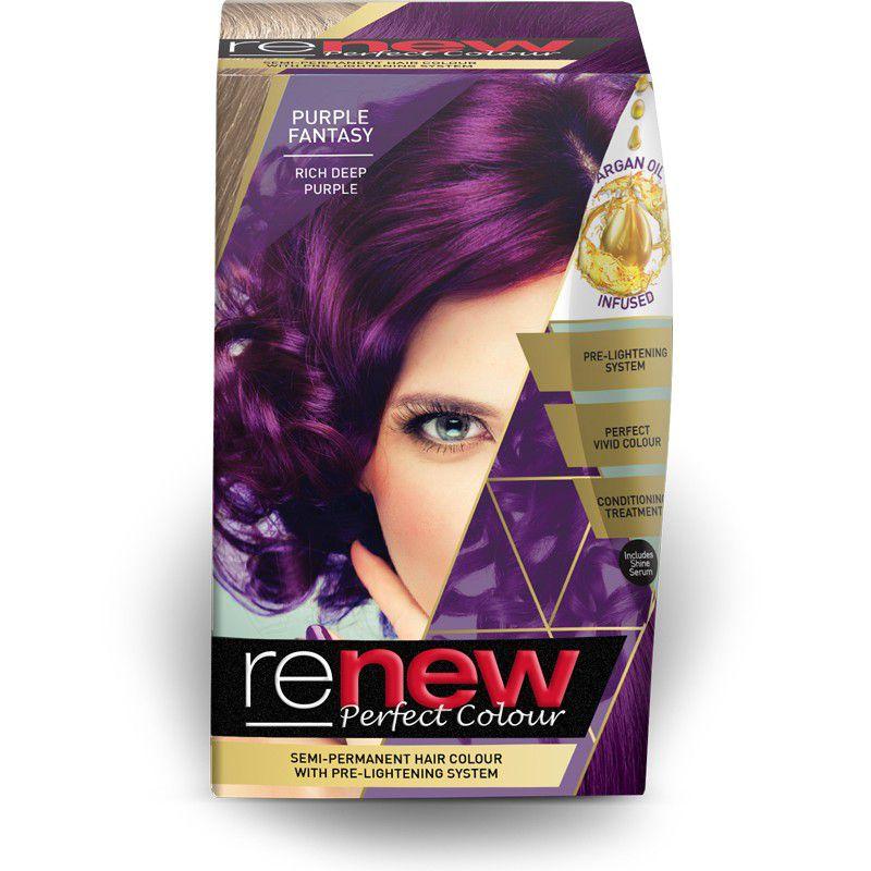 Renew Perfect Colour Semi Permanent Hair Colour Purple Fantasy