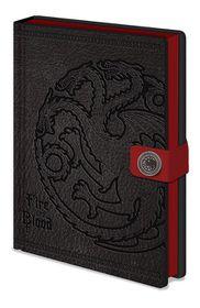 Game of Thrones: Targaryen Premium Notebook A5 (Parallel Import)