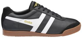 Gola Men's Harrier Leather Trainer - Black, White & Gum