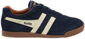 Gola Men's Harrier Suede Trainer - Navy & Ecru Orange