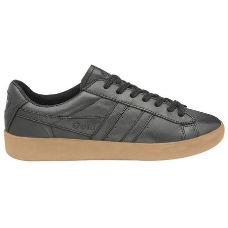 Aztec Leather Trainer - Black \u0026 Gum