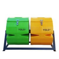 YOLO Double Compost Tumbler - Green & Yellow (Size: S)