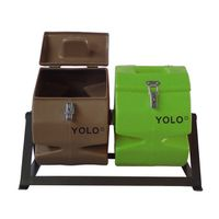 YOLO Double Compost Tumbler - Brown & Green (Size: S)