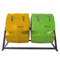 YOLO Double Compost Tumbler - Green & Yellow (Size: L)