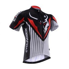 Cycling Box Men's Diablo Jersey - Black & Red