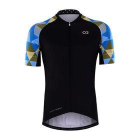 Cycling Box Men's Harmonious Jersey - Black Blue & Green