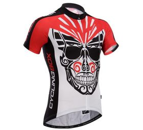 Cycling Box Men's Skull Knight Jersey - Red Black & White