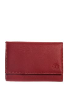 Carraro Ladies Leather 9 Credit Card Purse - Red