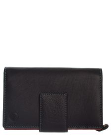 Carraro Ladies Leather 10 Credit Card Purse - Black