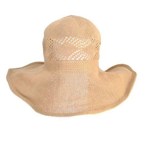 689d5d9331b Lily   Rose Cutout Floppy Hat - Beige