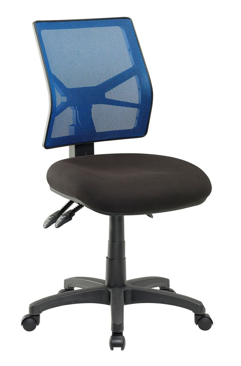 Cobalt Matrix Mesh Deluxe Ergonomic Heavy Duty Office Chair Blue Black Loading Zoom