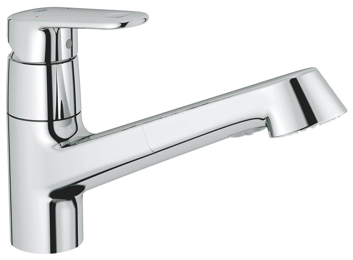 Grohe - Low Spout Extractable Hand Shower Europlus Kitchen Tap ...