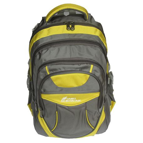 Camel Mountain Laptop Backpack Grey
