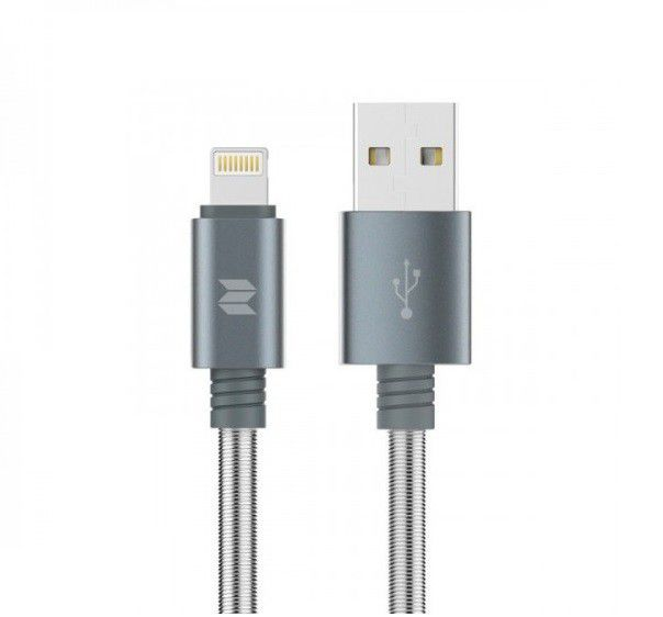 rock space metal spring lightning cable for ios tarnish buy
