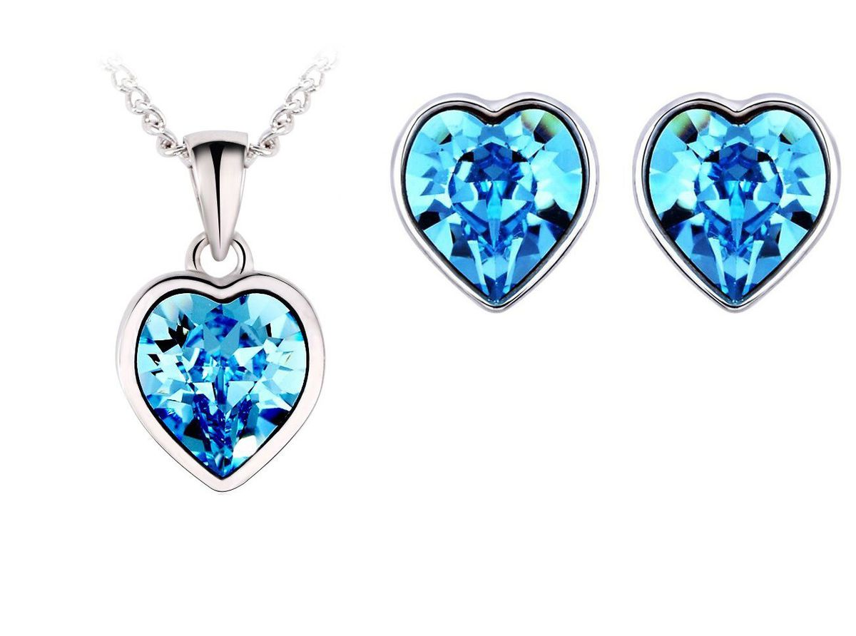 pale blue crystal swarovski light attract image necklace women