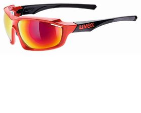Uvex Cycle Sportstyle 710 Sunglasses - Red & Black