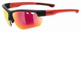 Uvex Cycle Sportstyle 115 Sunglasses - Black & Red