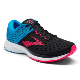 Brooks Women's Ravenna 9 Running Shoes - Black, Blue & Pink