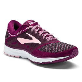Brooks Women's Revel Running Shoes - Plum, Pink & Black