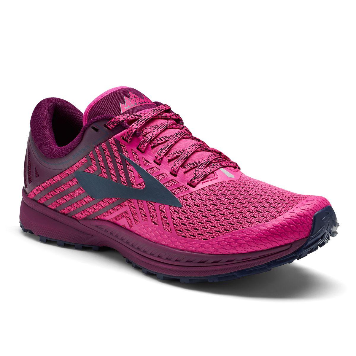 Brooks Womens Mazama 2 Trail Running Shoes  Pink Plum  Navy