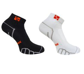 Vitalsox Compression Pack of 2 Low Cut Socks - Black & White (Size: S)