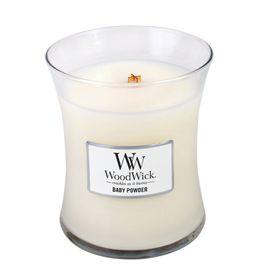 WoodWick Baby Powder Medium Jar Candle