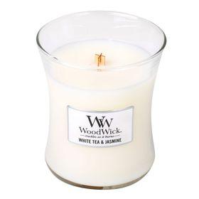 WoodWick White Tea & Jasmine Medium Jar Candle