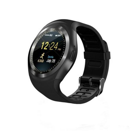 45331b28b28 Y1 Smart Watch for iOS   Android Smartphones - Black