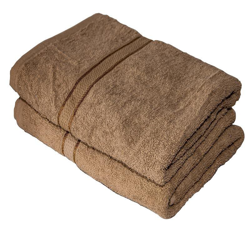 Grace Collection 2 Piece Luxury Bath Towel Set - Brown | Buy Online ...
