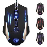 Sades Q6 Wired Gaming Mouse with LED Lights