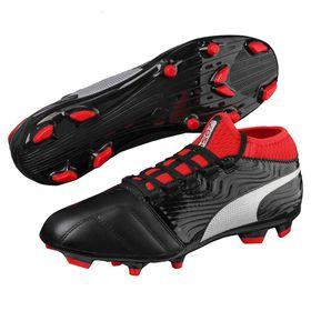 Men's Puma One 18.3 FG Soccer Boots - Black/Silver