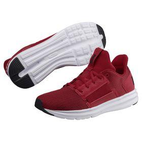 Men's Puma Enzo Street Running Shoes - Black/Red