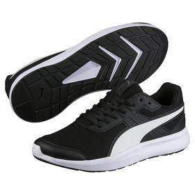 Men's Puma Escaper Mesh Running Shoes - Black/White