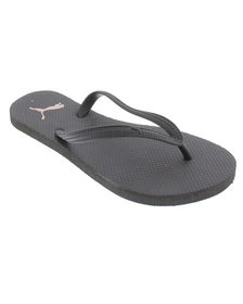 Women's Puma First Flip ZADP Slippers - Black