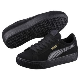 Women's Puma Vikky Platform Shoes - Black