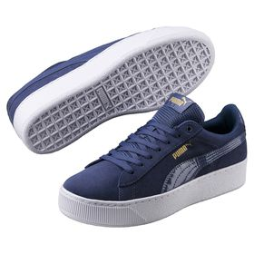 Women's Puma Vikky Platform Shoes - Blue