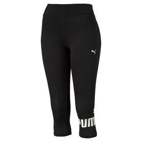 Women's Puma ESS 3/4 No.1 Leggings With Cotton - Black