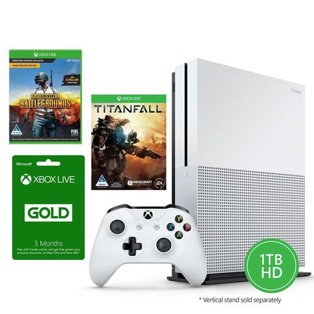 Xbox One S 1TB Console + Player Unknown Battlegrounds (PUBG) + Titanfall +  3 Months Live (Xbox One)