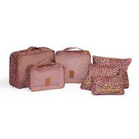 Sidekick Travel Organiser 6 Piece Set - Pink Leopard