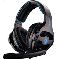 Sades 810 Gaming Headphones with Mic - Black & Blue